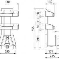 Centralni sesalni sistem PVC košara za pribor