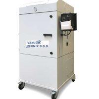 Odpraševalna naprava za filtracijo razlličnih prašnih delcev, topil in dimov